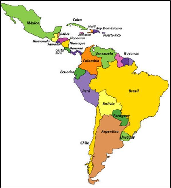 mapa de sudamerica y centroamerica - Koran.ayodhya.co